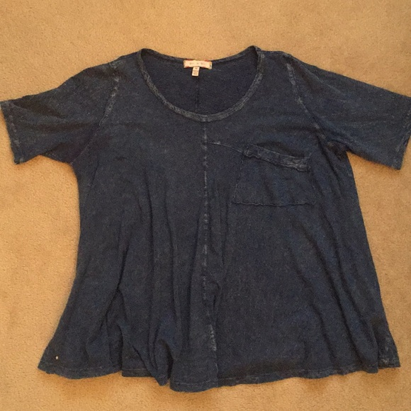 Anthropologie Tops - Slouchy Navy Blue Short-Sleeve Top from Anthro